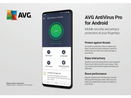 AVG Antivirus Pro for Android - kartička