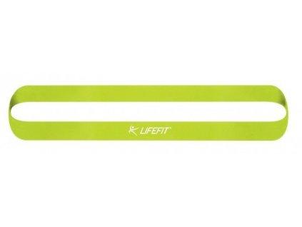 Posilovací guma LIFEFIT KRUH SOFT, sv. zelená
