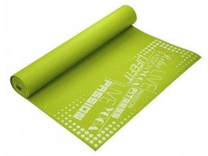 Gymnastická podložka LIFESLIMFIT, 173x61x0,4cm, světle zelená