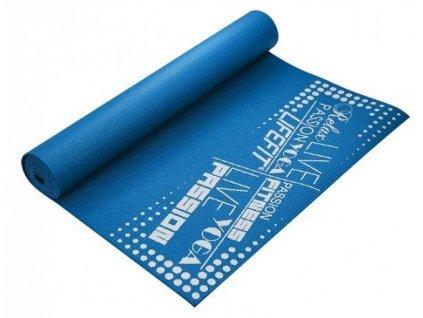 Gymnastická podložka LIFESLIMFIT, 173x58x0,4cm, modrá