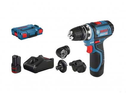 Bosch Professional GSR 12V-15 FC Set (0.601.9F6.000), 2x aku, L-BOXX
