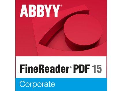 ABBYY FineReader PDF 15 Corporate, Single User License (ESD), GOV / NPO, Perpetual