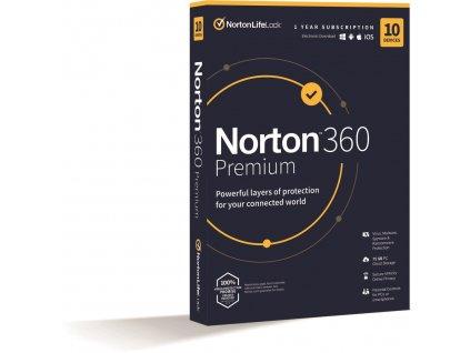 NORTON 360 PREMIUM 75GB CZ 1 uživatel, pro 10 zařízení, na 12 měsíců, box