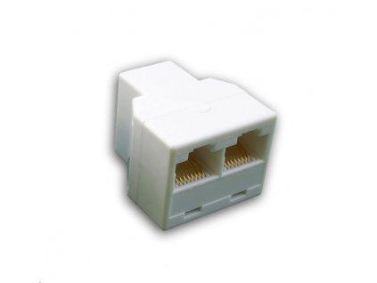 DATACOM Rozdvojka UTP CAT5E 3xRJ45 (8p8c-1F/2F)