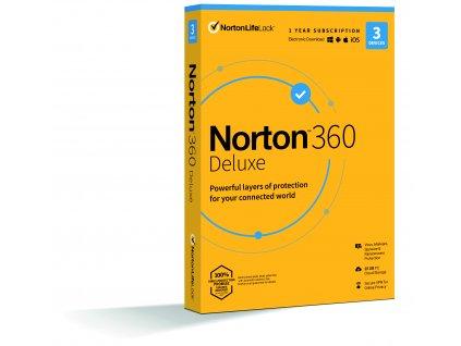 NORTON 360 DELUXE 25GB CZ 1uživatel, pro 3 zařízení, na 12 měsíců, box
