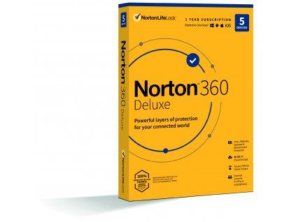 NORTON 360 DELUXE 50GB CZ 1uživatel, pro 5 zařízení, na 12 měsíců, box
