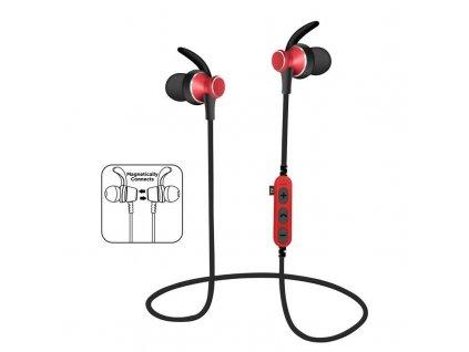 Platinet PM1060R sportovní bluetooth sluchátka s microSD, červená