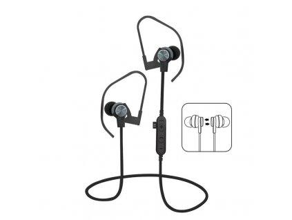 Platinet PM1062G sportovní bluetooth sluchátka s microSD, šedá