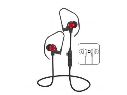 Platinet PM1062R sportovní bluetooth sluchátka s microSD, červená