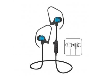 Platinet PM1062BL sportovní bluetooth sluchátka s microSD, modrá
