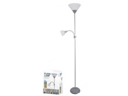 Platinet PFLF066GR podlahová lampa E27 + E14, šedá