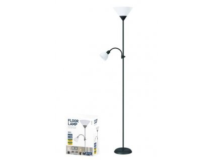 Platinet PFLF066B podlahová lampa E27 + E14, černá