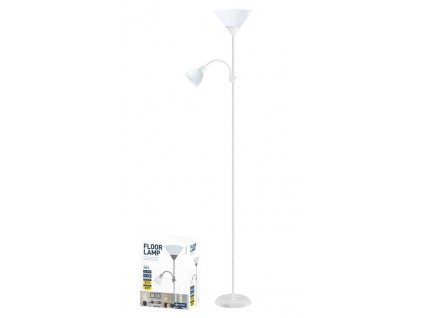 Platinet PFLF066W podlahová lampa E27 + E14, bílá