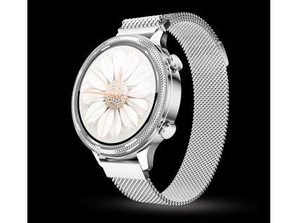 Chytré hodinky Aligator Watch Lady, stříbrné