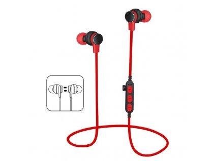Platinet PM1061R bluetooth sluchátka s microSD, červená