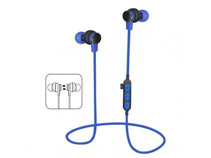Platinet PM1061BL bluetooth sluchátka s microSD, modrá