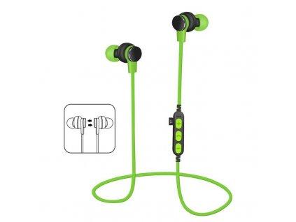 Platinet PM1061G bluetooth sluchátka s microSD, zelená