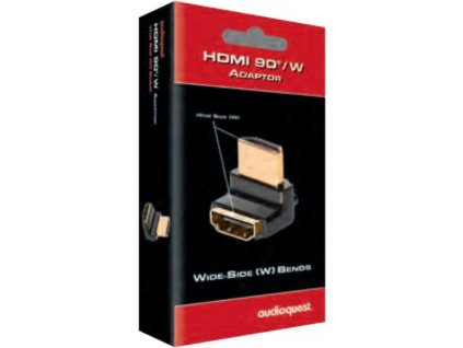 Audioquest HDMI adaptér 90°/W (zahnutý nahoru)
