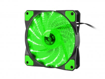 GENESIS ventilátor Hydrion 120, zelené LED, 120mm