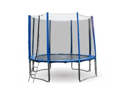 GoodJump 4UPVC modrá trampolína 366 cm s ochrannou sítí + žebřík + krycí plachta