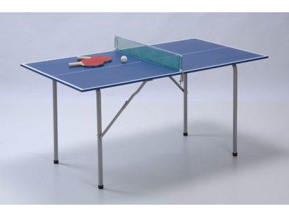 GARLANDO stůl na stolní tenis JUNIOR, modrý, deska 136 x 75 cm, vnitřní použití