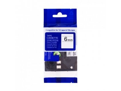 PRINTLINE kompatibilní páska s Brother TZE-S611, 6mm, černý tisk/žlutý podklad,extr. adh