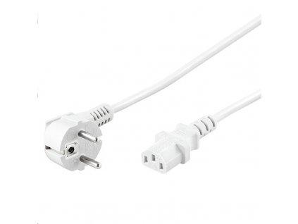 Kabel síťový 230V k počítači 2m bílý