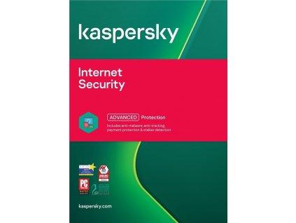Kaspersky Internet Security, 10 lic., 1 rok, update, elektronicky