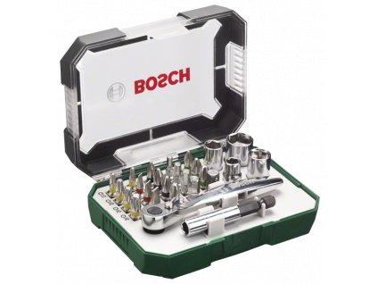 Bosch 26dílná sada šroubovacích bitů a ráčen