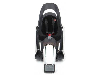 dětská sedačka HAMAX CARESS polohovací s uzamykatelným zámkem - šedá/bílá/černá
