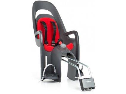 dětská sedačka HAMAX CARESS polohovací s uzamykatelným zámkem - šedá/červená