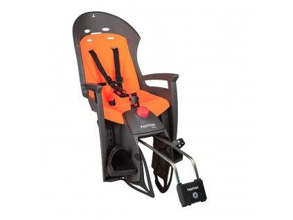 dětská sedačka HAMAX SIESTA polohovací s uzamykatelným zámkem - šedá/oranžová