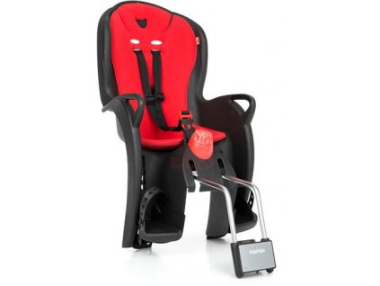dětská sedačka HAMAX SLEEPY s neuzamykatelným zámkem - černá/červená