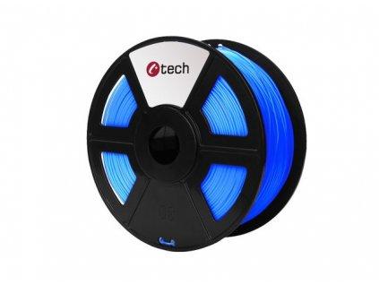 C-TECH filament ABS 1.75mm 1kg, fluorescenční modrá