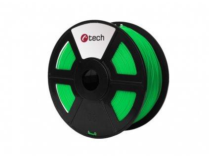 C-TECH filament ABS 1.75mm 1kg, fluorescenční zelená