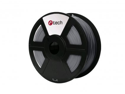 C-TECH filament ABS 1.75mm 1kg, stříbrná