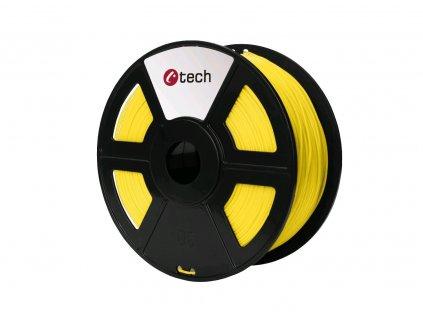 C-TECH filament ABS 1.75mm 1kg, žlutá