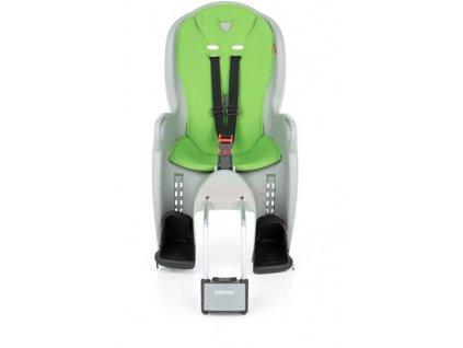 dětská sedačka HAMAX KISS s neuzamykatelným zámkem - šedá/zelená