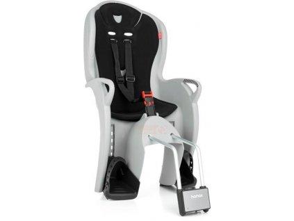 dětská sedačka HAMAX KISS s neuzamykatelným zámkem - šedá/černá