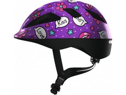ABUS Smooty 2.0 - purple kisses - vel. M - dětská helma
