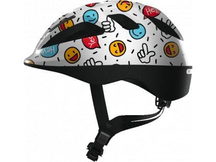 ABUS Smooty 2.0 - white smiley - vel. S - dětská helma