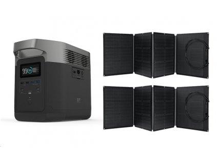 EcoFlow DELTA (Mezinárodní verze) + 2x solární panel 110W