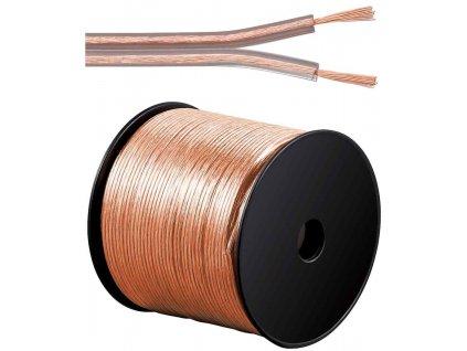 Kabely na propojení reprosoustav 99,9% měď 2x0,75mm2 100m