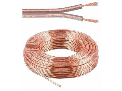 Kabely na propojení reprosoustav 99,9% měď 2x0,75mm2 50m