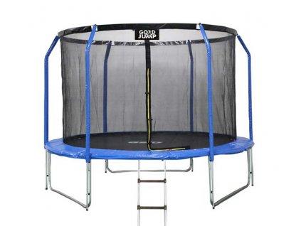 GoodJump 4UPVC modrá trampolína 366 cm s ochrannou sítí + žebřík - Inside