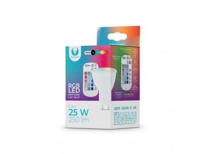 LED žárovka Forever GU10 RGB 5W s dálkovým ovládáním bílá