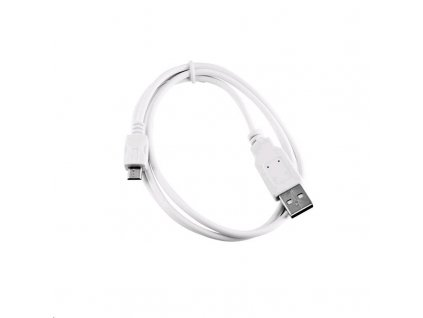 C-TECH USB 2.0 AM/Micro B, 2m, bílý