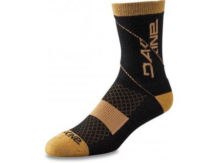Dakine Berm Crew Sock Black/Tan S/M