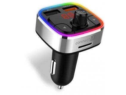 Connect IT CarRGB Bluetooth transmitter, 2xUSB+MicroSD, stříbrný