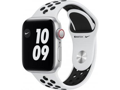 APPLE Watch Nike SE GPS+Cellular,40mm Silver Aluminium Case with Pure Platinum/Black Nike Sport Band